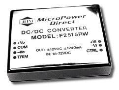 F2514RW | DC/DC | Ein: 18-36 V DC | Aus: 15 V DC | MicroPower Direct