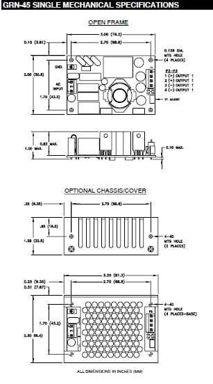 GRN-45-2002   AC/DC   Aus: 5 V DC 12 V DC   Integrated Power Designs