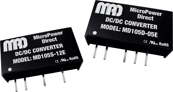 MD105S-15E   DC/DC   Ein: 5 V DC   Aus: 15 V DC   MicroPower Direct