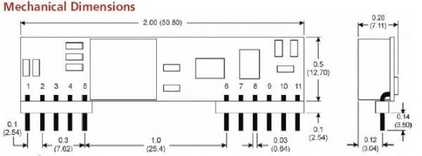 SR5012W-06 | DC/DC | Ein: 12 V DC | Aus: 0,75-5 V DC | MicroPower Direct