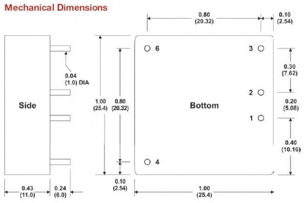 I2004RW   DC/DC   Ein: 9-18 V DC   Aus: 15 V DC   MicroPower Direct