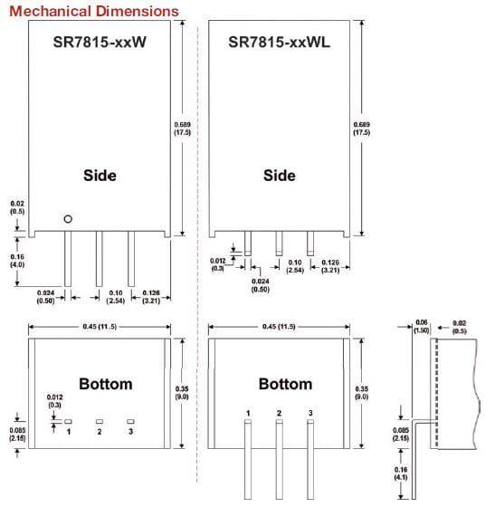 SR7815-018W(L) | DC/DC | Ein: 4,75-18 V DC | Aus: 1,8 V DC | MicroPower Direct