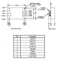 48S24.3QH | DC/DC | Ein: 36-75 V DC | Aus: 24 V DC | Calex