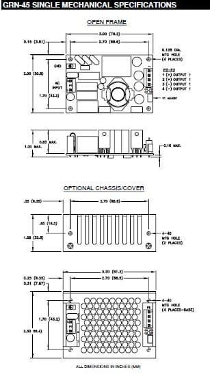 GRN-45-2004 | AC/DC | Aus: 15 V DC|-15 V DC | Integrated Power Designs